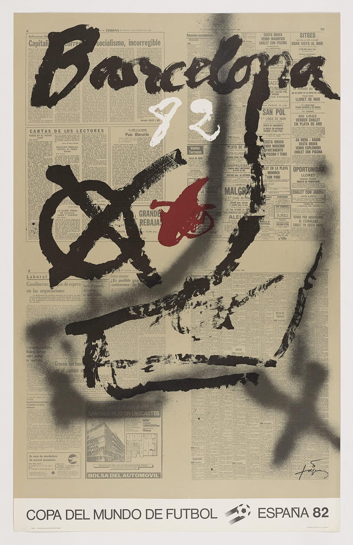Mundial 82. Chut, 1982, Antoni Tàpies