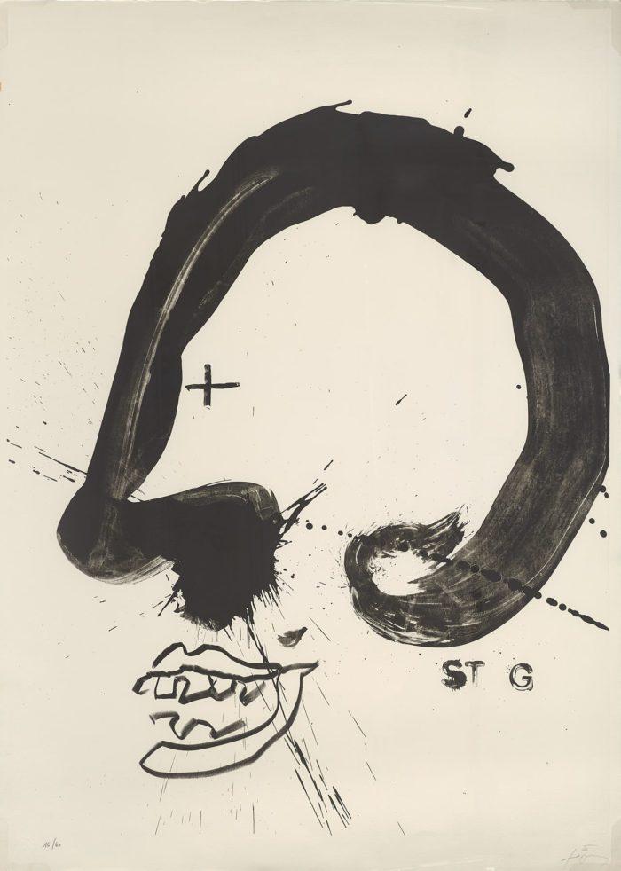 Improvisations en blanc i negre V, 1987, Antoni Tápies