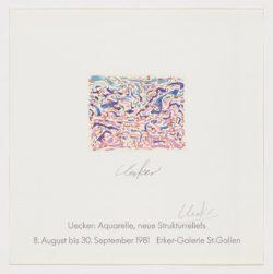 Erker-Galerie, 1981, Günther Uecker