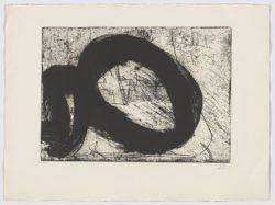 8 renversé (sèrie_negra), 1987, Antoni Tàpies