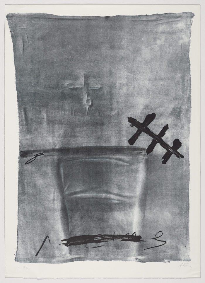 Chaise et ciseaux (variations III), Antoni Tàpies