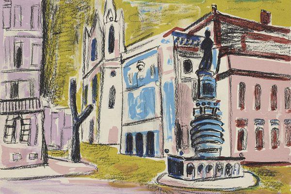 Obra grafica Arquitectura y ciudades, comprar obras de arte grabados espacios urbanos