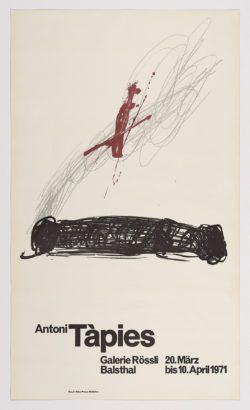 Galerie Rössli, 1971, Antoni Tàpies