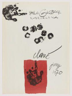 Sala Gaspar, 1970, Antoni Clavé