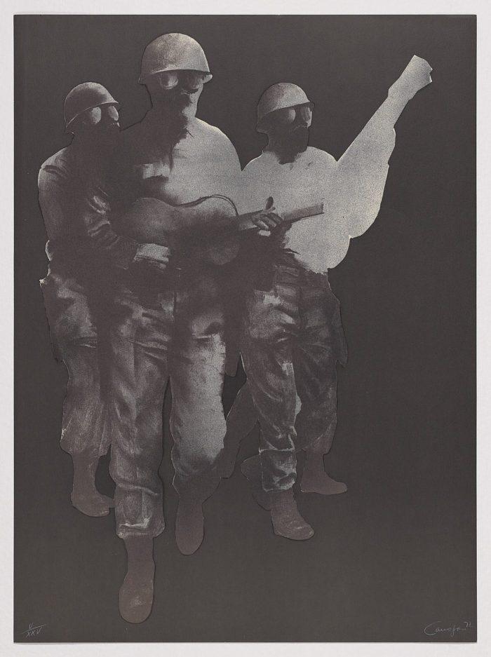 Los soldados músicos, Rafael Canogar