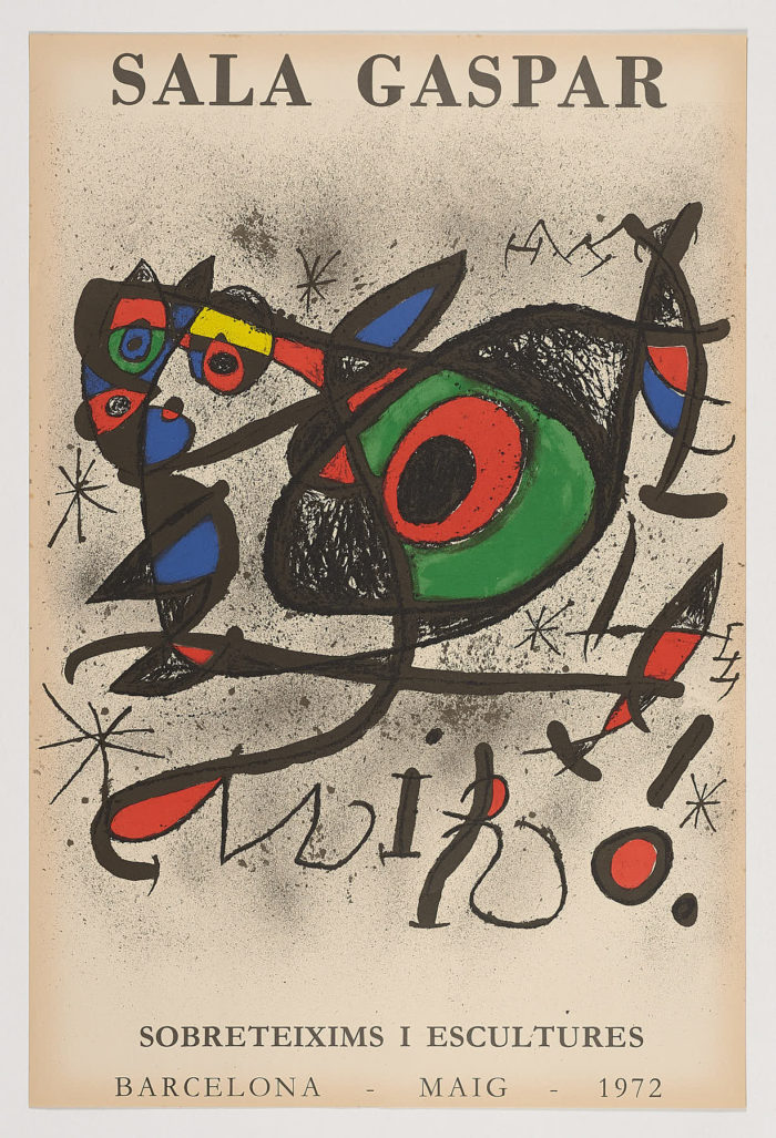 Sala Gaspar. Sobreteixims i escultures, Joan Miró
