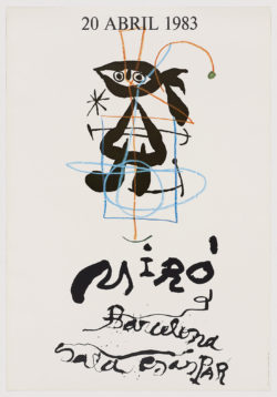 """Sala Gaspar. 20 abril 1983"""" (cartel de la exposición para el 90 Aniversario de Joan Miró), 1983, Joan Miró"""